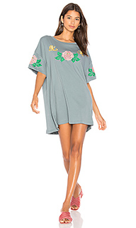 Indigo rose embroidered t-shirt dress - Wildfox Couture