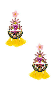 Petite watermelon statement earrings - Elizabeth Cole