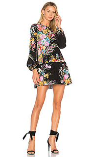 Мини-платье с цветочным рисунком - No. 21