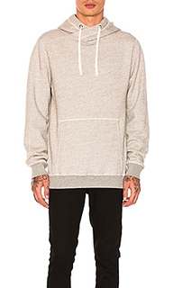 Home alone twisted hoodie in grey malange - Scotch & Soda