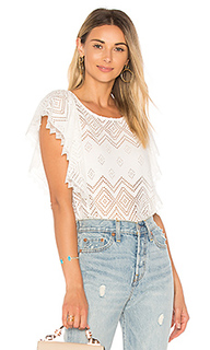 Pleated lace top - Ella Moss