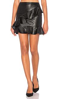 Asymmetrical ruffle mini skirt - Endless Rose