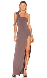 Макси платье с открытым плечом - Baja East
