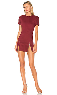 High zip slit mini dress - VATANIKA