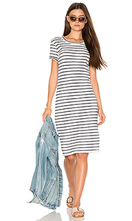 Navy cream stripe t shirt dress - Stateside