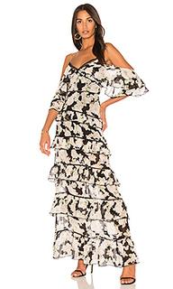 Макси-платье с воланама - NICHOLAS