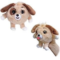 "Мягкая игрушка Собачка ""Дразнюка-Zooка"", коричневая, 13см, 1Toy"