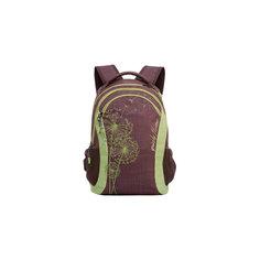 Рюкзак Grizzly, коричневый - салатовый