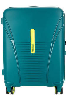 Бирюзовый чемодан на колесах American Tourister