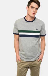 Хлопковая футболка с круглым вырезом Fred Perry