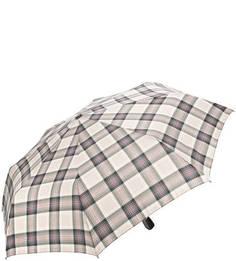 Серый складной зонт в клетку Doppler