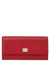 Кожаный кошелек Continental Dolce & Gabbana