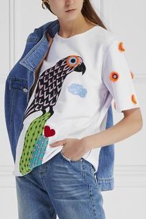 Хлопковый свитшот Flower Parrot КАТЯ ДОБРЯКОВА