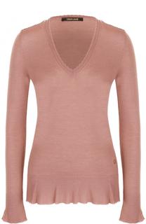 Приталенный пуловер с V-образным вырезом Roberto Cavalli