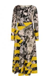 Приталенное платье-миди с принтом Dries Van Noten