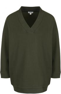 Пуловер с V-образным вырезом и контрастной надписью на спинке Kenzo