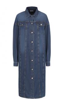 Джинсовое платье-рубашка прямого кроя Dries Van Noten