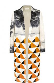 Пальто прямого кроя с принтом Dries Van Noten
