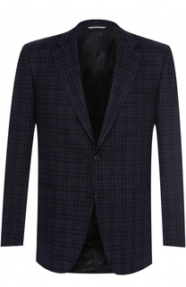 Однобортный пиджак из смеси шерсти и кашемира Canali