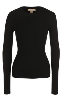 Облегающий кашемировый пуловер с круглым вырезом Michael Kors