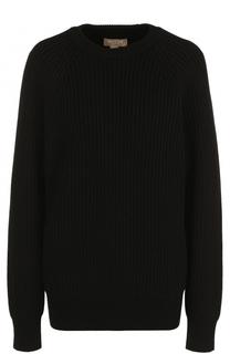 Удлиненный кашемировый пуловер с круглым вырезом Michael Kors