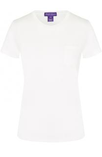 Хлопковая футболка с накладным карманом Ralph Lauren