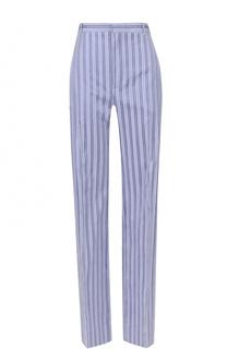 Хлопковые брюки прямого кроя в полоску Balenciaga