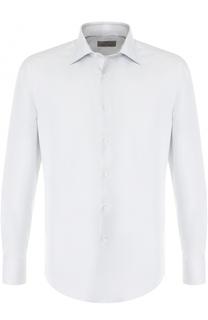 Хлопковая сорочка с воротником кент Canali