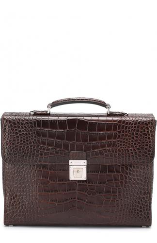 Кожаный портфель с тиснением Serapian