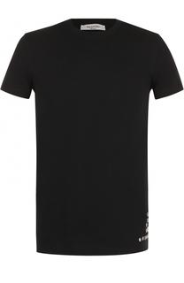 Хлопковая футболка с декоративной отделкой Valentino