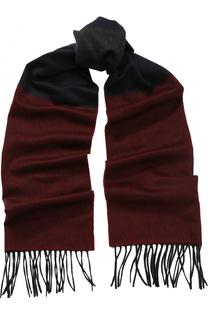 Кашемировый шарф с бахромой Lanvin