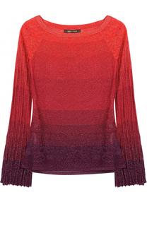 Пуловер в полоску с V-образным вырезом Roberto Cavalli