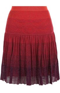 Мини-юбка с металлизированным волокном Roberto Cavalli