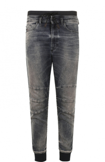 Зауженные джинсы с манжетами на резинке Diesel
