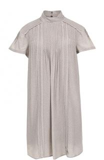 Шелковое мини-платье свободного кроя Burberry