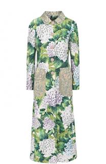 Удлиненное пальто с цветочным принтом Dolce & Gabbana