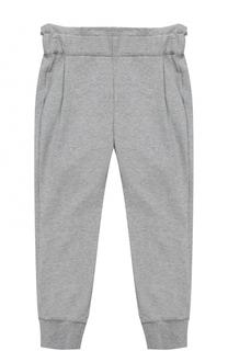 Спортивные брюки с эластичными манжетами и широким поясом Fendi Roma