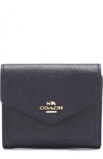 Портмоне из зерненой кожи с логотипом бренда Coach