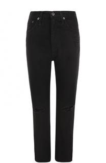 Однотонные джинсы прямого кроя с потертостями Ag