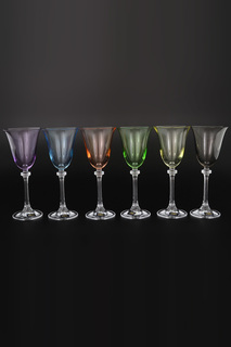 Бокалы для вина 185 мл, 6 шт. Crystalite Bohemia