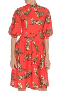 Платье с оборкой Adzhedo