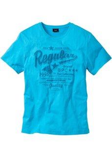 Традиционная футболка с коротким рукавом (бирюзовый) Bonprix