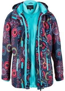 Функциональная куртка 3 в 1 с капюшоном (темно-синий с рисунком) Bonprix