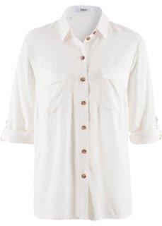 Длинная туника свободного покроя (цвет белой шерсти) Bonprix