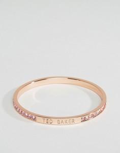 Узкий браслет с камнями Ted Baker - Золотой