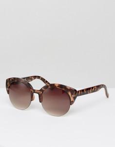 Черепаховые солнцезащитные очки в стиле ретро Jeepers Peepers - Коричневый