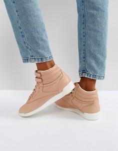 Светло-коричневые высокие кроссовки Reebok X Face Freestyle - Розовый