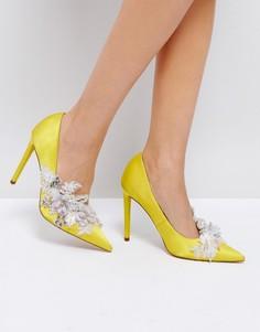 Туфли на высоком каблуке с декоративной отделкой ASOS PAVLOVA - Желтый