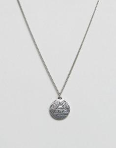 Серебристое ожерелье с круглой подвеской Classics 77 - Серебряный