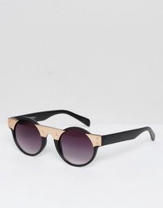 Черные круглые солнцезащитные очки Jeeper Peepers - Золотой